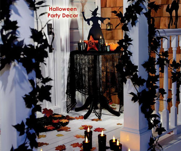 Black and Scary Halloween Party Decoration Ideas