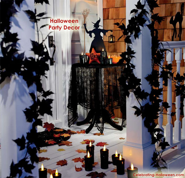 Scary in Black - Halloween Party Decorating Ideas for Adults