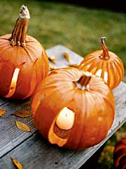 Pumpkin Lanterns Pathway - Outdoor Halloween Decorating