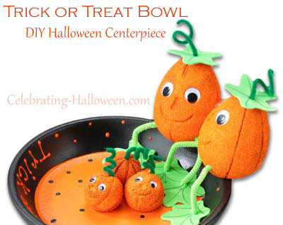 Trick or Treat Bowl - DIY Halloween Centerpiece